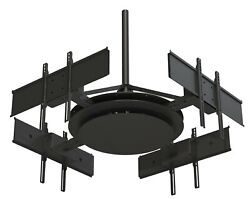 Multi-display Ceiling Mount With Four Telescoping Arms For 37 To 75 Displays