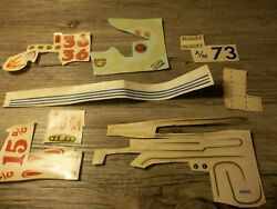 vintage decals for model car kits Nascar perfect circle hot rod numbers flames