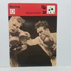 Rare Sports Card 1977 Marcel Cerdan Boxing French Boxer