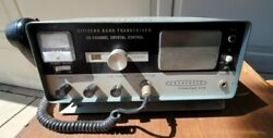 Vintage Lafayette Comstat 25a 23 Channel Tube Cb Radio With Mic Nice