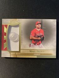 2021 Topps Tier One Mike Trout 3/5 Uniform Button Los Angeles Angels