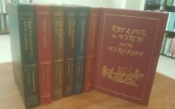 Easton Press The Chronicles Of Narnia Cs Lewis 7 Vol Hardcover Leatherbound Set