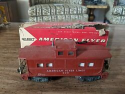 1957 American Flyer 930 Tuscan Caboose In 24608 Stamped Box