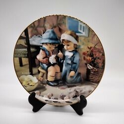 Hummel Plate Collectable 8 Danbury Mint Tender Loving Care Numbered Gold 1989