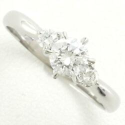 Jewelry Platinum 900 Ring 18 Size Diamond Si1 0.18 About3.6g Free Shipping Used