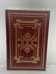 Michel De Montaigne Selected Essays 1982 The Franklin Library Leather Gold And Red