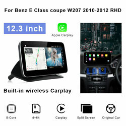 For Mercedes Benz E Class Coupe Bt 2010-12 Rhd 12.3 Android Car Gps Navigation