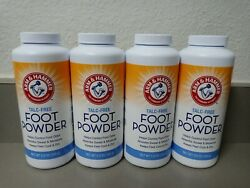 Lot Of 4 Arm And Hammer Talc-free Foot Powder Odor Control Corn Starch 5.0 Oz Ea
