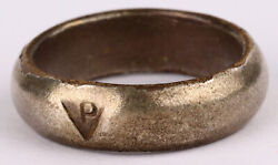 Ww2 Poland Prisoner Ring Wwii P Polish Polen Concentration Camp Or Ghetto Silver