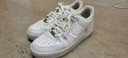 Nike Mens Air Force 1 And03907 Low White 315122-111 Size 8