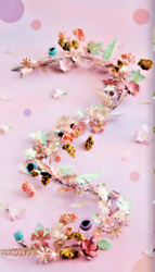 6' Metal Floral Garland Glitterville Si0498 Everyday Is A Holiday New Perfect
