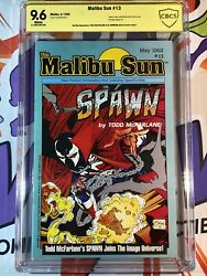 Malibu Sun 13 Cbcs 9.6 Signed By Todd Mcfarlane Al Simmons 1st App./cover Spawn