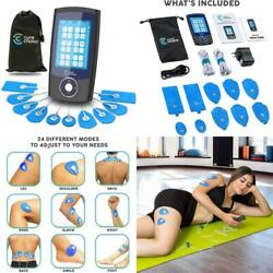 Tens Unit 24 Modes Massager With 10 Electrode Pads For Muscle And Joint Pain