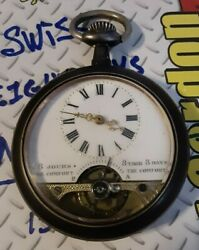 Antique Hebdomas 8jours 8tage 8days The Comfort Pocket Watch Swiss No.88+no.2