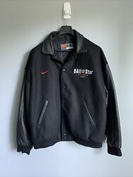 Rare Nike Nba All-star Game Black Letterman Jacket - Xxl - Incredible Condition