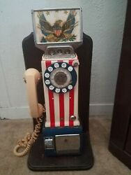 1976 Western Electric Bicentennial Pay Phone Telephone 3 Coin Slot Rotary Dial.