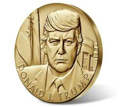Donald J Trump 3 Inch Official U. S. Mint Presidential Bronze Medal With Ogp