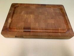 Boos Block Cutting Board 18 X 12 With Stainless Steel Feet New