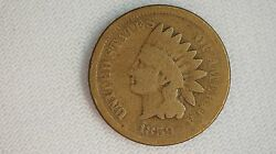 1859 Indian Head Cent Coin- 1c