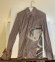 Nik Nik Vintage Menand039s 1970and039s Disco Shirt Made In Italy Medium Gangsters
