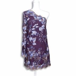 Free People Rosalie Mini Dress Size 4 One Shoulder Lace Embroidered Nwt