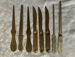 8 Lot Vintage Letter Openers Adversiting Chairs Typewriters Ruler