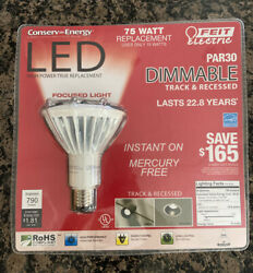 Feit Electric Led Lightbulb 75w Recessed Track Dimmable Par30 Focused Light Nip
