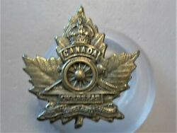 Ww1 Royal Regiment Of Canadian Artillery Canadian Issue Style D Collar Badge