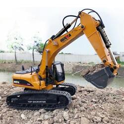 Rechargeable Full Metal Miniature Remote Controlled Excavator Toy For Kids