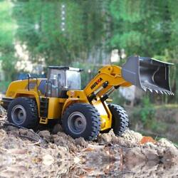 Rechargeable Miniature Remote Controlled Metal Wheel Front Loader Toy For Kids
