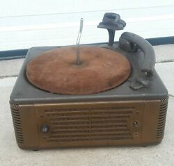 Vtg Webster Chicago Turntable Phonograph Record Vinyl Player W Metal Cabinet Old