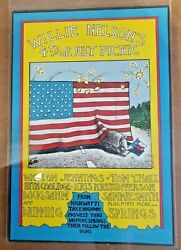Willie Nelson - 7/4/1973 - First 4th Of July Picnic Poster - Vintage Original