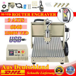 220v Usb 3 Axis 1.5kw Cnc 6040 Router Engraver Machine Metal Cutting+ Controller