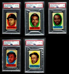 1963 Topps Peel-offs Baseball Almost Complete Set 6 - Ex/mt