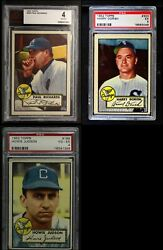 1952 Topps Chicago White Sox Low Number Team Set 4 - Vg/ex