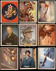 1950 Topps Freedomand039s War Complete Set 3 - Vg