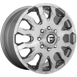 Set Of 6-20 Inch Fuel D693 Blitz Dually 8x170 Platinum Wheels Rims