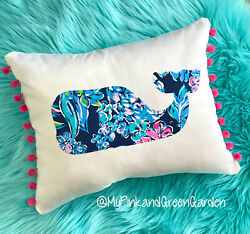 New Whale Pillow Made With Lilly Pulitzer Fabric U Pick Assorted Prints