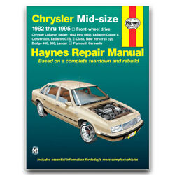 Haynes Repair Manual For 1985-1988 Plymouth Caravelle - Shop Service Garage Yv