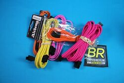 Lot Of 30 Bitfenix Power Extension Cables Mixed Colors8-pin 45cm