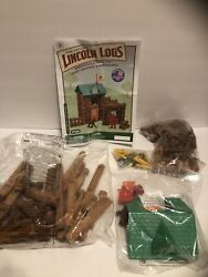 Lincoln Logs , Fort Red Pine, New But No Tin , All Parts Still In Bags