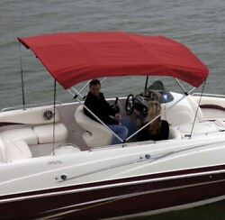 Shademate 80246 Red Bimini Top Poly Fabric And Boot Only3bow6and039l46/54h91-96andrdquow