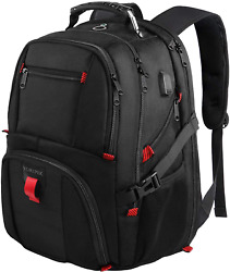 Travel Backpacks for Men Extra Large College School Laptop Bookbags with USB 17 $38.09