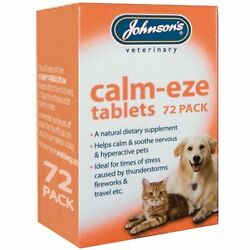 Johnsonand039s Calm-eze Tablets 72 Pack Helps Calm And Soothe Dogs Cats Veterinary