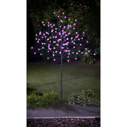Outdoor Solar Powered 4ft/5ft/6ft/trees 128/352led White/pink/green Lights Deco