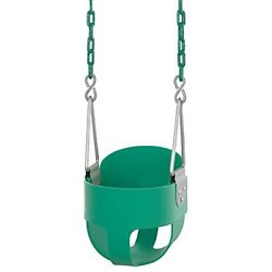 High Back Full Bucket Toddler And Baby Swing - Vinyl Coated Chain - Fully