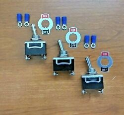 3 Bbt Marine Grade 12 Volt 20 Amp Toggle Switches With Terminals