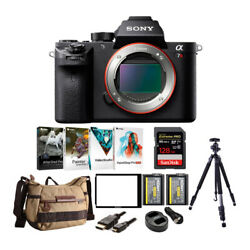 Sony Alpha A7rii Mirrorless Camera With Vanguard Backpack And 128gb Card Bundle