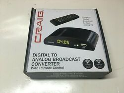 Craig Digital to Analog Broadcast Converter With Remote Control –CVD509n New
