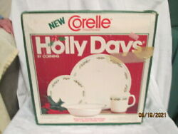 Corelle By Corning Holly Days 16 Piece Service For 4 Christmas Dishes Usa